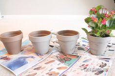 annie sloan chalk painted flower pots