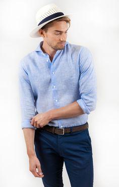 Linen Shirt | Light Blue - Kjøp online | Neckwear.no