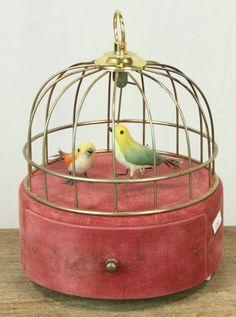 Vintage Birdcage Music Box.                                                                                                                                                      More