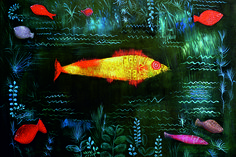 Paul Klee - Der Goldfisch. Enjoy RushWorld boards, ART A QUIRKY SPOT TO FIND YOURSELF, SPELLBINDING ART INSTALLATIONS, IN YOUR FACE GUERILLA MARKETING and UNPREDICTABLE WOMEN HAUTE COUTURE. See you at RushWorld on Pinterest! New content daily, always something you'll love!