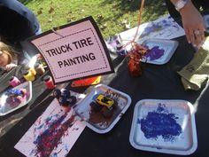 Monster truck birthday....future party for garrett for sure!!
