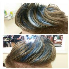 """Had fun with this one!  #bluewaves #btcpics #modernsalon #menscolor"""