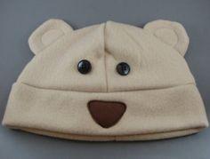 Bear Animal Fleece Hat Winter Snowboard Skiing by AnimatedApparels, $20.00