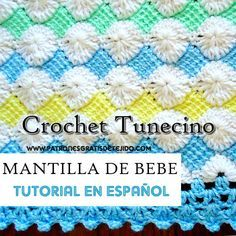 como tejer cobija bebe crochet tunecino tutorial Crochet Baby, Knit Crochet, Tunisian Crochet, Diy Projects To Try, Crochet Patterns, Quilts, Blanket, Knitting, Georgia