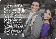 Wedding Words - Save the Date Magnets in White | Stacey Day