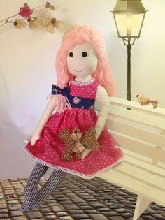 Delicada Boneca de Pano, Rag Doll - Sophie