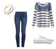 """Sweater weather"" by amahl-1 ❤ liked on Polyvore featuring Converse, Chicnova Fashion and Paige Denim"