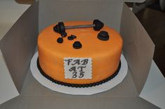 Physical trainer cake