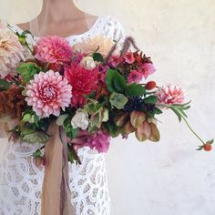what stunning colours in this floral bouquet