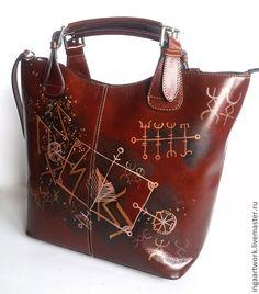 Женские сумки ручной работы. Специально для Регины. Кожаная сумка. Ручная  роспись. 3d236cbfef4