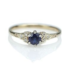 Replica Art Deco Sapphire Engagement ring – 3188-03