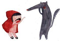 Pinzellades al món: Amics estiuenc: Caputxeta Vermella i el llop / Amigos veraniego: Caperucita Roja y el lobo / Summery friends: Red Riding Hood and the Wolf (34)