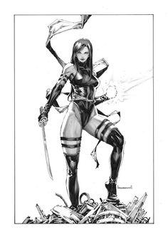 Art Vault — Psylocke by Kael Ngu * Marvel And Dc Characters, Marvel Comics Superheroes, Comics Girls, Marvel Girls, Marvel Art, Marvel Heroes, Comic Movies, Comic Books Art, Comic Art