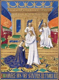 Jean Fouquet: Coronación de la Virgen. S. XV.