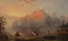 Indians on Green River / Alfred Jacob Miller - oil  kp