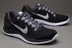 Nike Lunarglide +5 - Mens Running Shoes - Black-White-Dark Grey