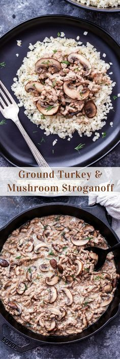 Youll love this lightened up affordable and easy to make. Youll love this lightened up affordable and easy to make Ground Turkey and Mushroom Stroganoff! An easy and healthy comfort food weeknight dinner. Ground Turkey And Mushroom Recipe, Healthy Ground Turkey Dinner, Easy Ground Turkey Recipes, Ground Turkey Pasta, Ground Turkey Meal Prep, Ground Meat, Ground Turkey Stroganoff, Easy Dinner Recipes, Easy Meals