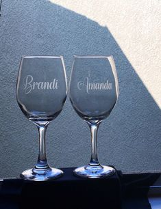 Excited to share this item from my #etsy shop: Besties Etched Wine Glasses-Bridal Shower Glasses-Personalized Etched Wine Glasses-Bachelorette Party Glasses-Name Etched Glasses Monogram Wine Glasses, Etched Wine Glasses, Personalized Wine Glasses, Personalized Bridesmaid Gifts, Bridesmaid Wine Glasses, Wedding Wine Glasses, Champagne Glasses, Bridal Shower Gifts For Bride, Wedding Gifts For Bridesmaids