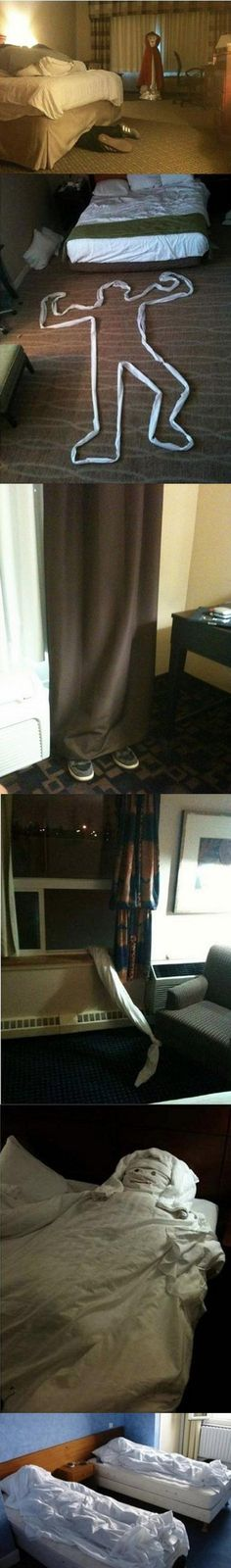Hotel Room Pranks to Leave for the Maids. Hilarious but terrible.