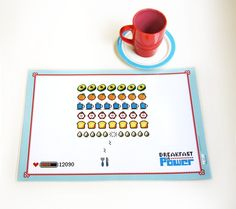 Breakfast Is Power Placemat