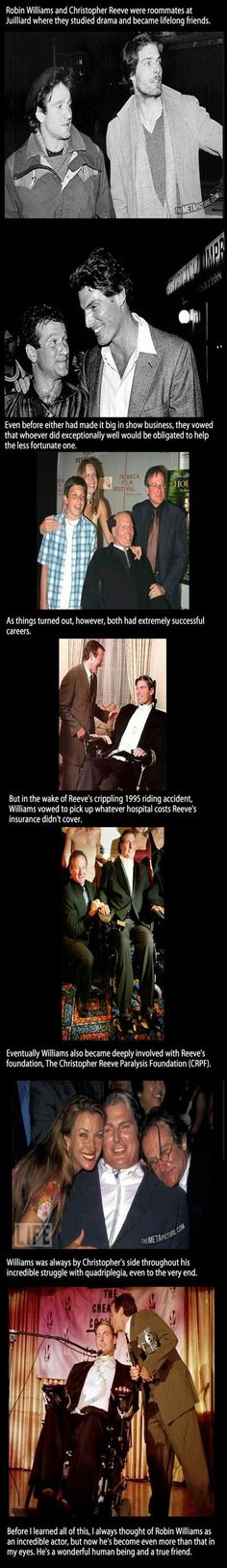 thats sweet that shows a realy a storng friendship it nices to have someone to relie on if needed #chistopher reeves and robin williams#rest in peace SUPERMAN!!!
