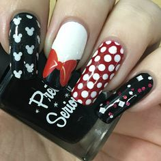 A Certain Becca Nails: Minnie Mouse Inspired Nails