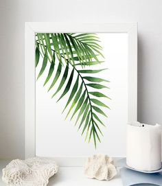 Tropical art set Set of 4 Tropical leaves Leaf prints set Art Tropical, Tropical Leaves, Watercolor Leaves, Watercolor Art, Palm Frond Art, Art Above Bed, Photo Frame Display, Leaf Illustration, Plant Painting