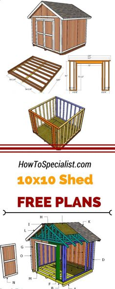 If you need more storage space in the backyard you should check out 10x10 shed plans. Learn how to build a small garden shed using my step by step plans and instructions. howtospecialist.com #diy #shed #shedplans 10x10 Shed Plans, Wood Shed Plans, Shed Building Plans, Diy Shed Plans, Storage Shed Plans, Diy Storage, Small Storage, Building Ideas, Outdoor Storage