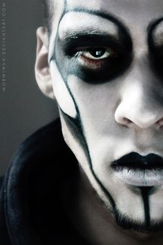gothic makeup on men - Google Search                                                                                                                                                                                 More