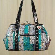Tiki Blue Shaheen Handbag