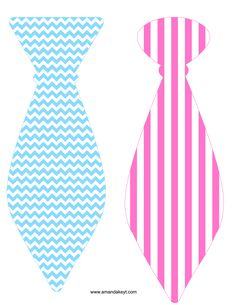 Ties from Baby Gender Reveal Bright Chevron Printable Photo Booth Prop Set