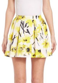 """Alice and Olivia Connor Skirt ($165) // As seen on Brooke Maddox, played by Carlson Young, in Scream episode 2x02, """"Psycho."""""""