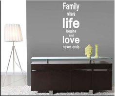 adesivo murale frase family