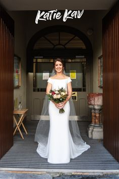 Simple elegant bardot sleeve wedding dress for a winter wedding. Irish Wedding, Wedding Day, Winter Bride, Bride Flowers, Bridal Portraits, Wedding Photography, Bardot, Elegant, Wedding Dresses