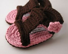 cute baby sandals to crochet