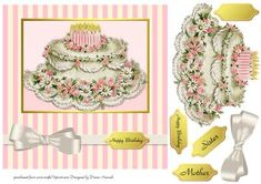 Chic Birthday Cake 2 on Craftsuprint - View Now!