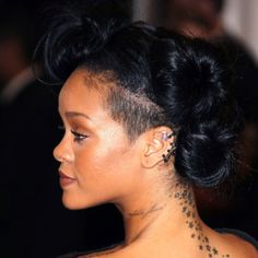 Rihanna's updo at the Met Gala #hair #riri #rihanna