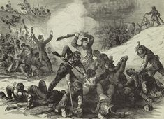 On April 12, 1864, at Battle of Fort Pillow, Tennessee, Confederate General Nathan Bedford Forrest led his 2,500 men against the Union, occupied by 292 blacks 285 whites. Forrest's men swarmed into the fort and drove the Federals down the river's bluff into a deadly crossfire.
