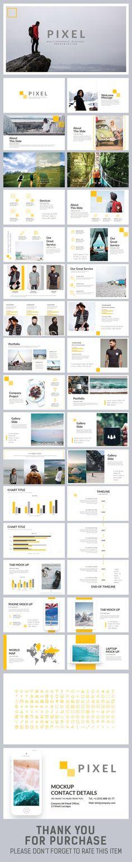 Pixel Keynote Template - Keynote Creative Presentation Template by Slider_Tackle. Creative Powerpoint, Powerpoint Presentation Templates, Keynote Template, Slide Presentation, Presentation Design, Web Design, Slide Design, Graphic Design, Layout Design