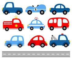 cute cars digital clip art transportation road signs illustration rh pinterest com clipart cars and trucks clip art cars free