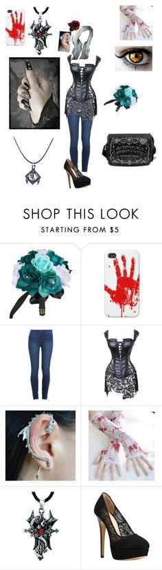 """""""gothic kind of"""" by kennedyw3095 ❤ liked on Polyvore featuring Paige Denim and Charlotte Olympia"""