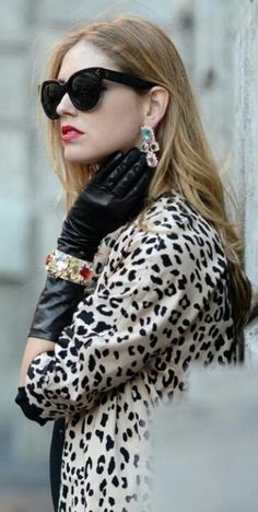 Bangle worn over Leather Gloves. Nice look!