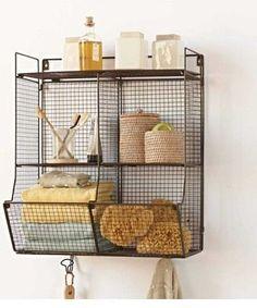 36. #estantes de alambre - 48 baño #súper inteligente #organización Ideas... → DIY
