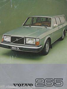 VOLVO - 265 leaflet brochure/prospekt/folder Dutch 1977 | eBay