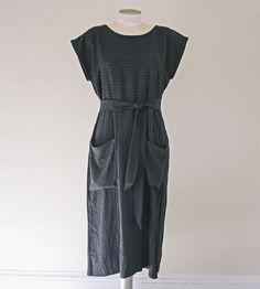 Black Pocket Shift Dress