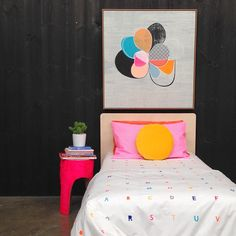 A B C D E F G H I J K L O V E. We just received Rachel Castle's latest adorable must-have: Alphabet Bedding!  Available at Koskela.