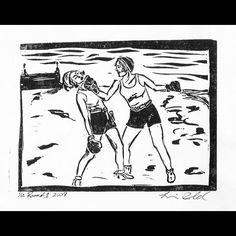 Series: Grit and Glamour Title: Round 1 #lorraineimwoldart #vintage #boxing #women #1920s #beach #shorts http://ift.tt/1SshBv3