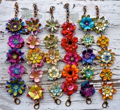Sunny Skies...a Floral Charm Bracelet... from wendy baker. $55.00, via Etsy.