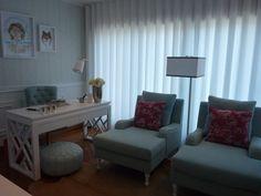 Blanco Interiores: Projeto Novo: Home Office em Aqua...
