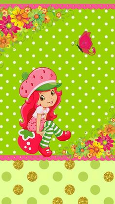 Strawberry Shortcake Pictures, Strawberry Shortcake Coloring Pages, Strawberry Shortcake Characters, Strawberry Shortcake Doll, Simple Wallpapers, Hello Kitty Wallpaper, Kanzashi Flowers, Cute Little Girls, Pink Love